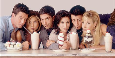 """Fans drank in Friends: The show with Matthew Perry, left, Jennifer Aniston, David Schwimmer, Courteney Cox Arquette, Matt LeBlanc and Lisa Kudrow """"epitomized aspirational TV,"""" says producer Tom Nunan."""