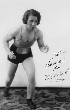 Queen pin: Mildred Burke was a top wrestler in the 1930s and '40s.