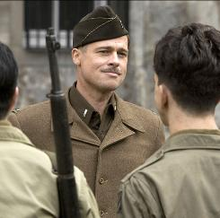 "Leading the resistance: Brad Pitt is Lt. Aldo Raine of the ""basterds,"" Jewish-American soldiers getting revenge on the Nazis."