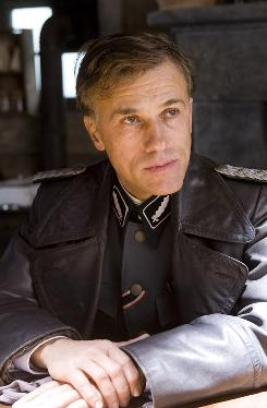 Command performance: Christoph Waltz is generating talk of an Oscar nomination for his portrayal of Col. Landa. 