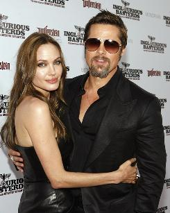 Angelina Jolie and Brad Pitt's appearance at the premiere of Inglourious Basterds boosted their August exposure.