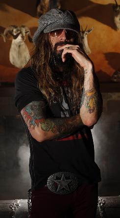 Scary guy: Halloween II director Rob Zombie, photographed at his home in L.A., says horror &quot;is one of those classic genres.&quot; 