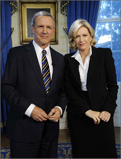Charles Gibson will be replaced by Diane Sawyer at the end of the year.
