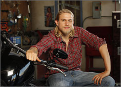 Charlie Hunnam plays second in command on Sons of Anarchy. The series, which focuses on a family involved in a motorcycle gang, drew solid ratings in its first season.