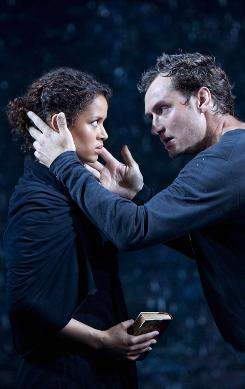 Shakespeare here: Gugu Mbatha-Raw and Jude Law star in the Broadhurst's Hamlet.