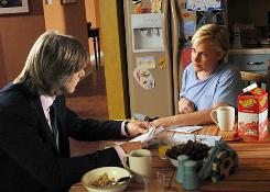 Well done: Joe (Jake Weber) and Allison (Patricia Arquette) try to move on from Allison's medical problems.