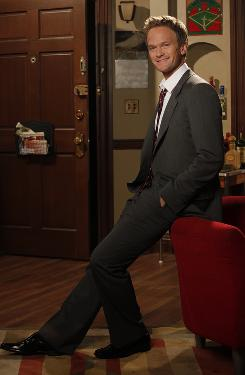 Suited up: Neil Patrick Harris, shown on the set of How I Met Your Mother, hosts the Emmys on Sunday.