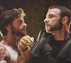 Wolverine (Hugh Jackman, left) takes revenge on Sabertooth (Liev Schreiber) in X-Men Origins: Wolverine.