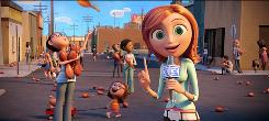 Sam Spark (voice of Anna Faris) is the brainy weathercaster in Cloudy With a Chance of Meatballs.