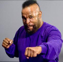 Pity the fool who doesn't love Mr. T: The actor and former bodyguard, 57, who gained fame in Rocky III and The A-Team in the 1980s, is making a comeback in the animated Cloudy With a Chance of Meatballs.