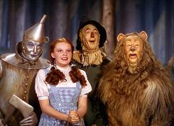 The Tin Woodsman (Jack Haley), Dorothy (Judy Garland), the Scarecrow (Ray Bolger) and the Cowardly Lion (Bert Lahr) are back in one-night screenings in Hi-Def on Wednesday and in remastered releases due Sept. 29.