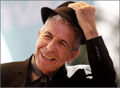 Leonard Cohen is best known for his dark poetic lyrics . He has been making music since the late '60s.