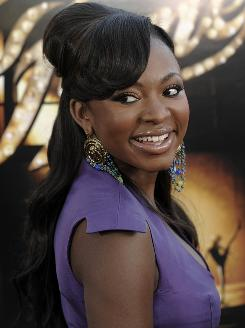Newcomer Naturi Naughton enjoys her moment of Fame at the film's premiere Wednesday.