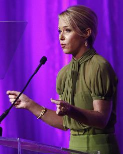 She's a survivor: Christina Applegate was honored for founding the cancer-support organization Right Action for Women.