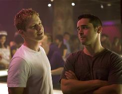 Bad boys Tucker (Matt Czuchry), left, and Drew (Jesse Bradford) run amok.