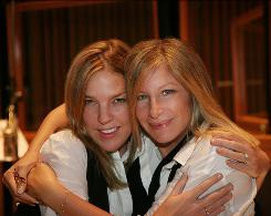 """Girly-girl stuff"": Diana Krall produced Barbra Streisand's latest album, Love Is the Answer, in stores Tuesday."