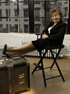 A new platform: Joy Behar says she sees her show, which premieres Tuesday, as &quot;a little Bill Maher, a little Larry King, a little Charlie Rose.&quot;