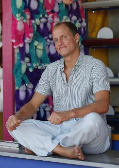 Busy man: Woody Harrelson has several movies coming out before the end of the year, starting with horror comedy Zombieland on Friday.