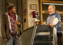 Time to make the Donuts: Jon Michael Hill, left, and Michael McKean star in Tracy Letts' new play.