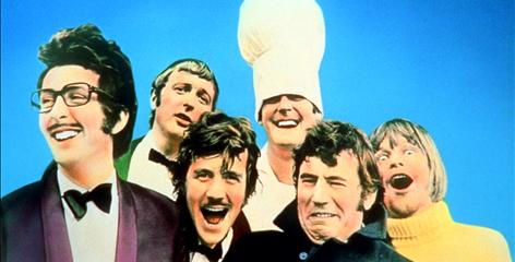 Chef's choice of jokes: The Monty Python gang  Eric Idle, left, Graham Chapman, Michael Palin, John Cleese, Terry Jones and Terry Gilliam  in 1971.