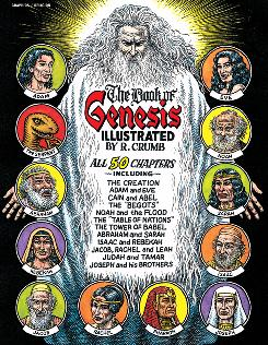 And it was good: The Book of Genesis Illustrated by R. Crumb includes the biblical stories of Noah's ark and Adam and Eve in its depiction of all 50 chapters.