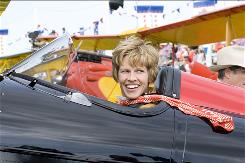 Hilary Swank plays Amelia Earhart, who disappeared while attempting to be the first woman to fly around the world.
