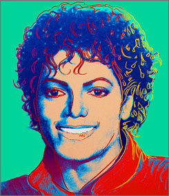This Andy Warhol painting of Michael Jackson is estimated to fetch $500,000 to $700,000 at auction.