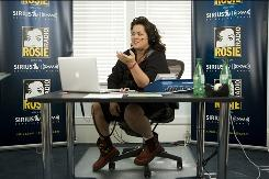 Rosie O'Donnell rehearses for the Nov. 2 launch of her new Sirius XM radio show, produced from a studio built in her Nyack, N.Y., home.