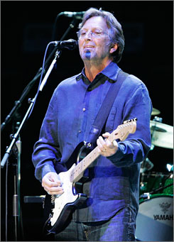 Eric Clapton was to perform as part of a two-night celebration in honor of the hall's 25th anniversary.