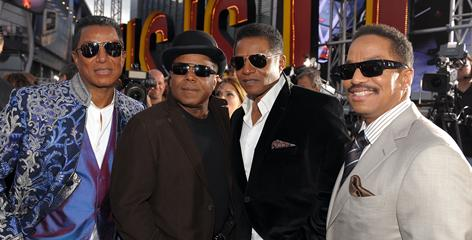 """He'd be most proud"": Michael Jackson's brothers  Jermaine, left, Tito, Jackie and Marlon  arrive at the Nokia Theatre."