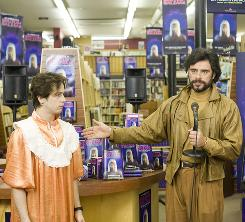 Lost in space: Michael Angarano, left, and Jemaine Clement look for the humor in Gentlemen Broncos.