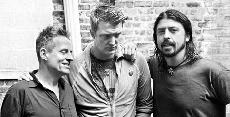 John Paul Jones, left, Josh Homme and Dave Grohl.are Them Crooked Vultures. Their new album arrives Nov. 17.