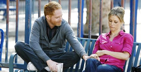 Modern Family: Jesse Tyler Ferguson and Julie Bowen are part of an extended, interconnected household.