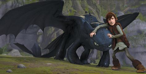 Hiccup (voiced by Jay Baruchel) wounds then befriends Toothless, a rare Night Fury dragon, in How to Train Your Dragon. The computer-animated adventure is meant to &quot;celebrate dragons and let us own them for a while, says co-director Dean DeBlois.