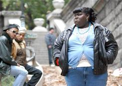 "Gabourey Sidibe plays Clareeice ""Precious"" Jones, who at 16 manages to rise above horrific circumstances."