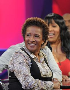 Not-so-quiet on the set: Wanda Sykes at work on the first episode of her talk show, airing Saturday at 11 p.m. ET/PT.