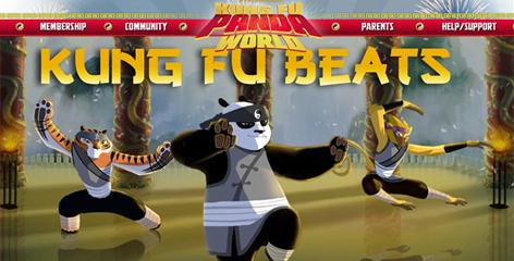 Panda World players choose their character, Tiger, Panda or Monkey, and their poses, weapons and other attributes. The games are based on the film Kung Fu Panda.