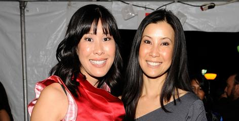 Sisters: Laura Ling and Lisa Ling arrive at the gala. Laura Ling made headlines this spring after she and Euna Lee were detained in North Korea.