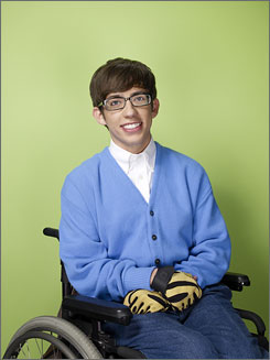 Actor Kevin McHale, who is not disabled, plays a wheelchair-bound student on Glee.