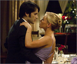 Stephen Moyer and Anna Paquin star in HBO's True Blood, which was nominated for favorite TV obsession and sci-fi/fantasy TV show.
