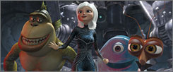Monsters vs. Aliens goes up against Up  and Ice Age: Dawn of the Dinosaurs.