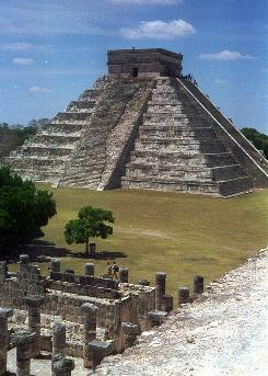 El Castillo, in Yucatan, Mexico, rises 79 feet above the forest floor and illustrates Maya attention to the calendar. Each of the four sides contains a staircase of 91 steps. Those, along with the top platform as a step, add up to 365, the number of calendar days in a year.
