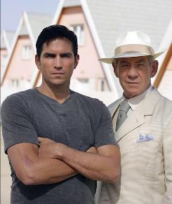 """Orwell's 1984 on steriods"": So says Jim Caviezel, left, about the new miniseries The Prisoner, in which he stars with Ian McKellen."