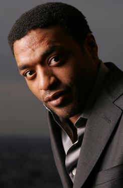 "Chiwetel Ejiofor (pronounced chew-it-tell edge-oh-for) says he's prepared for any 2012-like disaster: canned peaches. ""They last a long time."""