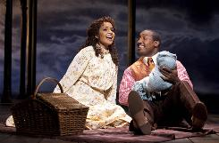 The way for young lovers Sarah (Stephanie Umoh) and Coalhouse Walker Jr. (Quentin Earl Darrington), a Harlem musician, is not smooth at the turn of an earlier century.