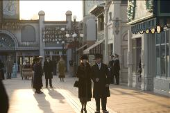 "To create the 300-foot-long set of Boardwalk Empire, sand was trucked in. ""The building-it-from-scratch part is just complete fun,"" says production designer Bob Shaw."