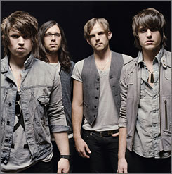 """""""We're all we've got"""": Matthew Followill, left, and his cousins, brothers Nathan, Caleb and Jared Followill, started in the music business in 1998."""