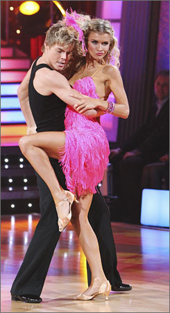 Model Joanna Krupa and partner Derek Hough just missed the cut for next week's Dancing With the Stars finale.