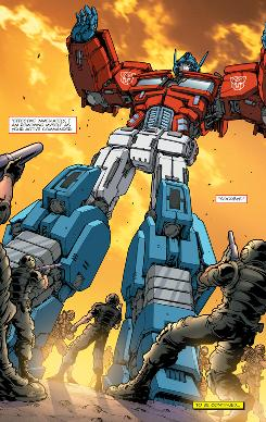 From IDW's new 'Transformers' issue #1: Optimus Prime resigns his command!