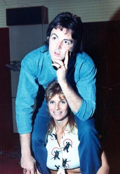 In 1974: Paul and Linda McCartney in the recording studio of album collaborator Eric Stewart. Peter Ames Carlin's book details Paul's pain through Linda's battle with breast cancer and death in 1998.